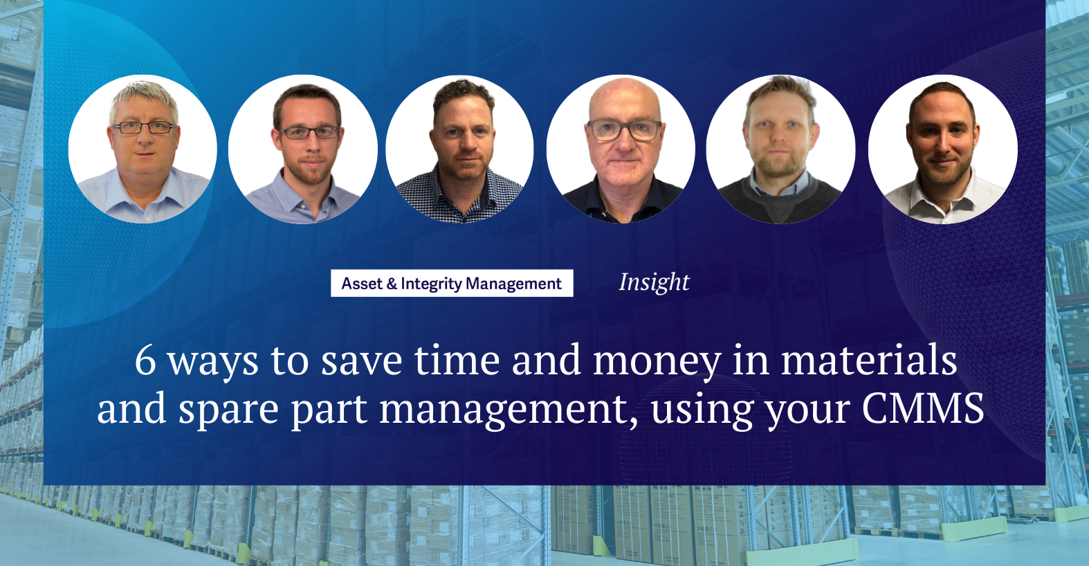 6 ways to save time and money in materials and spare part management, using your CMMS